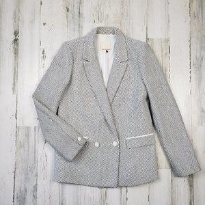 Rebecca Taylor Double Breasted Textured Blazer 8